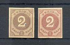 DUTCH WEST INDIES-CURACAO-1889 -2 Ct # 14 -2 x PROOF (*) AS ISSUED VF --@2