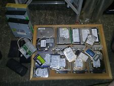 Used Misc Vintage Computer Parts Lot of 26 Pieces Hard Drives Cdrw Drives + More