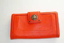 AUTHENTIC  Marc by Marc Jacobs Totally Turnlock Flap Clutch Wallet Red leather