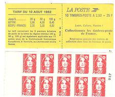 FRANCE VARIETE CARNET TYPE BRIAT N°2720-C2a ABSENCE DE PREDECOUPE DES TIMBRES