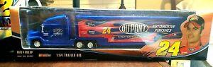 Winners Circle NASCAR Jeff Gordon #24 1:64 Truck Trailer Rig Blue DuPont. NIB