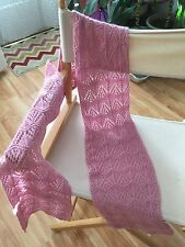 handknit wool blend lace scarf