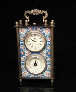 Collectible Handmade Two Mechanical Clock Exquisite brass Crafts
