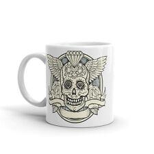 Skull with Wings Scary Halloween High Quality 10oz Coffee Tea Mug #7398