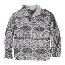 True Grit Mens/Unisex Frosty Tip 1/4 Zip Jacket Tribal Charcoal Size X Large NWT