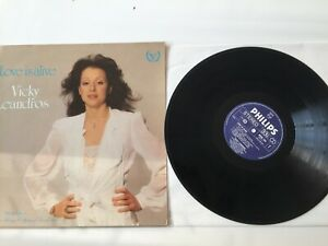 Album Vinyle LP Rare Vicky Leandros  Love is Alive Johnny Hallyday Philips 12""