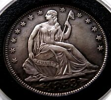 1853 SEATED LIBERTY HALF DOLLAR ARROWS AND RAYS/MS