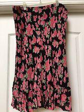 JM Woman Collection Jennifer Moore Floral Print Skirt, Lined. Size 16