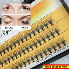 Juego 60 pestañas postizas individuales naturales negras falsas eyelashes false