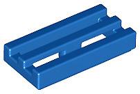 Lego Teile NEU - 10 Stück Fliese 1x2 Gitter mit Bottom Groove 2412b blau