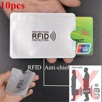 10 pcs feuille d'aluminium anti-demagnetisation couverture de carte RFID sa G6K3