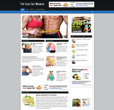 FAT LOSS FOR WOMEN WEBSITE & AFFILIATE STORE WITH NEW DOMAIN + HOSTING