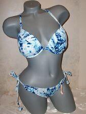 NWT Victoria Secret Gorgeous Tie Dye Smocked 36C S String Swimsuit Bikini
