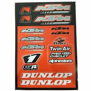 autocollant décalcos A4 KTM Dunlop Twin Air