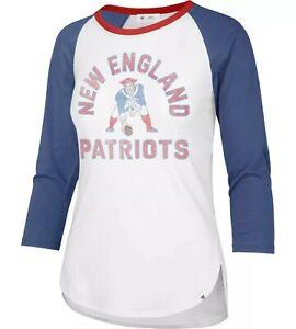 New England Patriots Women's Raglan Three-Quarters Sleeve Tee - FREE SHIPPING!