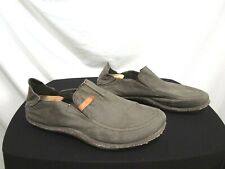 Cushe Brown Twill Waxed Canvas Surf Slipper Casual Loafer Shoes Men Size 17