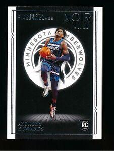 2020-21 Panini Noir Base #178 Anthony Edwards RC Timberwolves 40/99