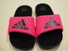 Size 7 Women's adidas PINK Slides navy blue sandals slippers massage Adissage