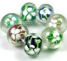 Lampwork Handmade Colorful Encased Rondelle Beads (7)