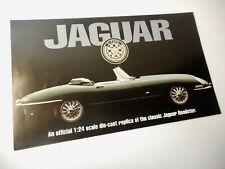 BROCHURE ONLY - Franklin Mint 1961 Jaguar E-Type