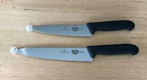 Victorinox Cooks knife Set 19cm 5.2003.19 & 22cm 5.2003.22 BLACK Chef FREE POST