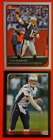 Tom Brady Bowman 2006 Card #11 & 2003 Card #14 Lot of 2 Early Base Cards. MINT