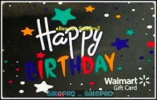 WALMART USA HAPPY BIRTHDAY #FD55138 MIRROR LIKE SHINY COLLECTIBLE GIFT CARD