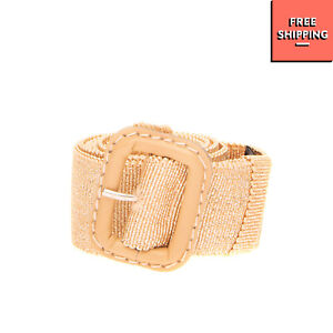 RRP €110 ASPESI Waist Belt Size 46/XL 90/36 Lame Effect Pin Buckle Made in Italy