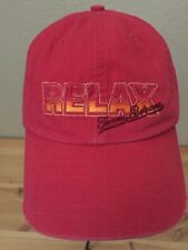 Tommy Bahama RELAX Adjustable Destressed Baseball Hat Red Tommy Tini Recipe