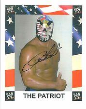 m820  The Patriot TB  signed 8x10  Vintage Wrestling Photo w/COA  **BONUS**