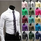 Fashion Mens Luxury Stylish Casual Long Sleeve Dress Shirts Slim Fit Shirts 012