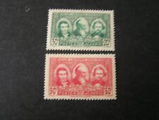 *ALGERIA, SCOTT # B28/B29(2), 1939 SEMI-POSTAL PIONEERS OF THE SAHARA ISSUE MH