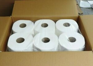6 Rolls Premium Soft Paper Centerpull Towels ,600 2-Ply Sheets/Roll Center Pull