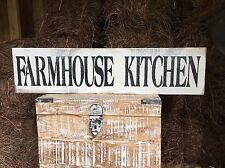 "Large Rustic Wood Sign - ""Farmhouse Kitchen"" -Fixer Upper, HGTV, DIY"
