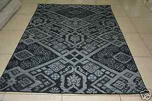 Indian Hand Knotted 5x8 150x240 Low Pile Wool Viscose Art Silk Carpet Area Rug
