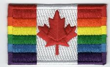 Rainbow Canada Flag Patch LGBT Pride Embroidered Iron On Applique