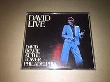 David Bowie: Live at the Tower Philadelphia: 2 X CD Fax Box Album: VGC: PD1