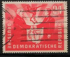 DDR 284, 24 PF tedesco-polacco amicizia 1951 timbrato #a244