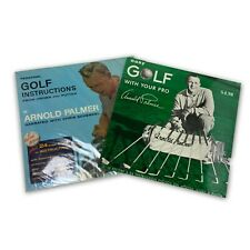 Lot of 2 Vintage Personal Golf Instruction Vinyl Records with Arnold Palmer