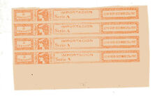 ARGENTINA, 4 FISCAL STAMPS, IMPERFORATED, 1901, VF