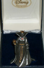 Disney Evil Queen Pewter Villians Snow White Witch Xmas Disneyana Villains Rare