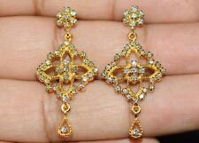 CERTIFIED NATURAL 1.1CT VS G DIAMOND 18K SOLID GOLD COCKTAIL CHANDELIER EARRINGS