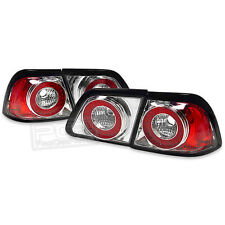 DEPO LED Euro Crystal Clear Tail Lights For 97 98 99 Nissan Maxima 4Pc Chrome!