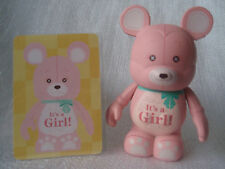 Disney Vinylmation Celebrations IT'S A BABY GIRL PINK BEAR Mickey Mouse 3 Figure