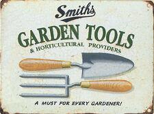 15x20cm Smith's Garden Tools Retro Small Metal Advertising Wall Sign