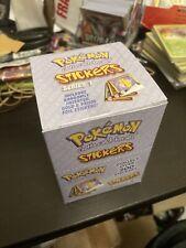 Rare Pokemon Stickers Series 1 Original 1999 Full Retail Display Box - 30pk