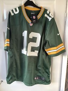 Brand New With Tags NFL Nike Green Bay Packers Jersey Green Large Rodgers 12