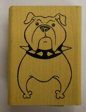 Rubber Stamp Bulldog - wood mounted JK 2947E