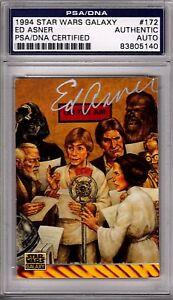 1994 Star Wars Galaxy ED ASNER Signed Autographed Card SLABBED PSA/DNA #83805140
