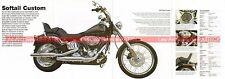 HARLEY DAVIDSON FXSTC 1584 Softail Custom Fiche Moto 000526